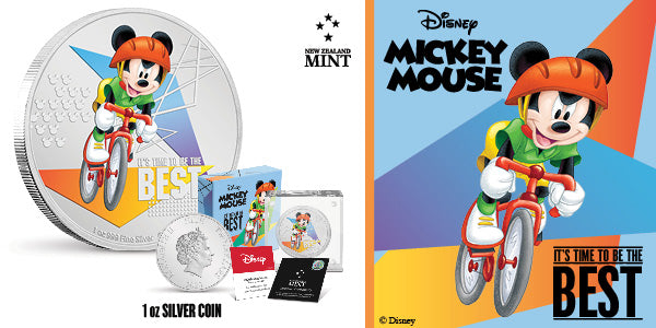 Disney Mickey Mouse 2020 – It's Time to be the Best 1oz Silver Coin