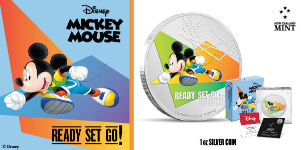 Disney Mickey Mouse 2020 – Ready Set Go! 1oz Silver Coin
