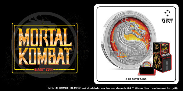 Mortal Kombat 1oz Silver Coin Available Now | New Zealand Mint