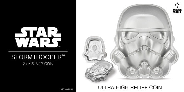 Star Wars™ Helmets: Stormtrooper Helmet Ultra High Relief 2oz Silver Coin