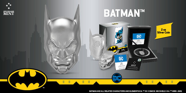 DC Comics – BATMAN™ 2oz Silver Coin Available from NZ Mint