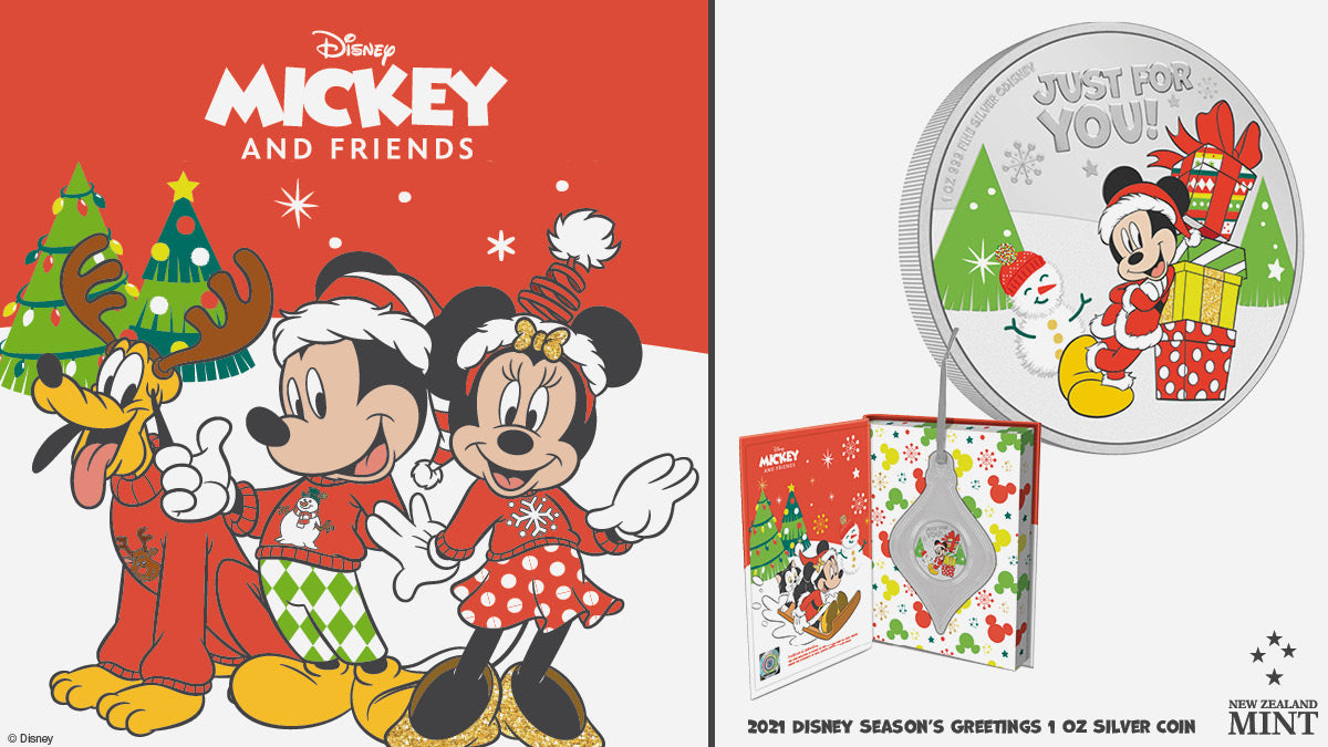 Avoid the queues and beat the Christmas rush - get your gifts sorted early with our 2021 Season's Greetings pure silver collectible coins. There are three to choose from this year! From Disney, Star Wars™ and HARRY POTTER™!