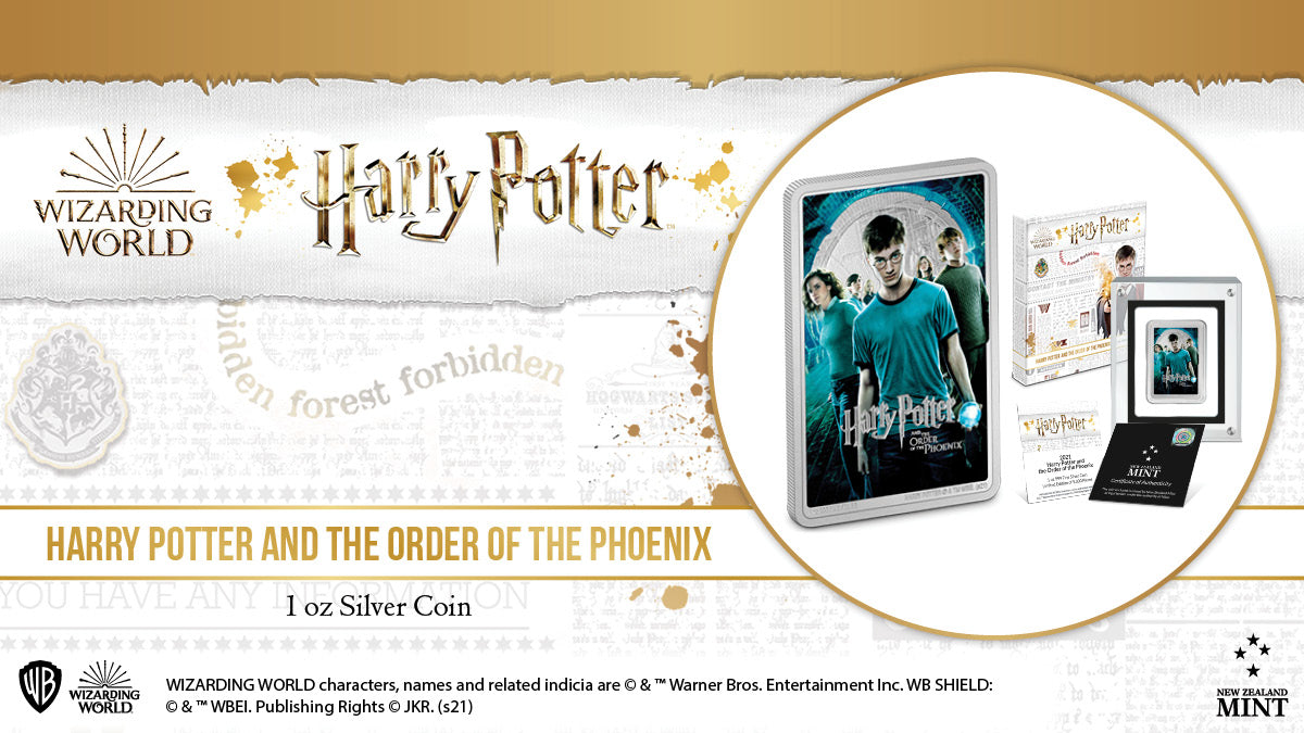 HARRY POTTER™ Movie Poster - Harry Potter and the Order of the Phoenix™ 1oz Silver Coin Available Now!
