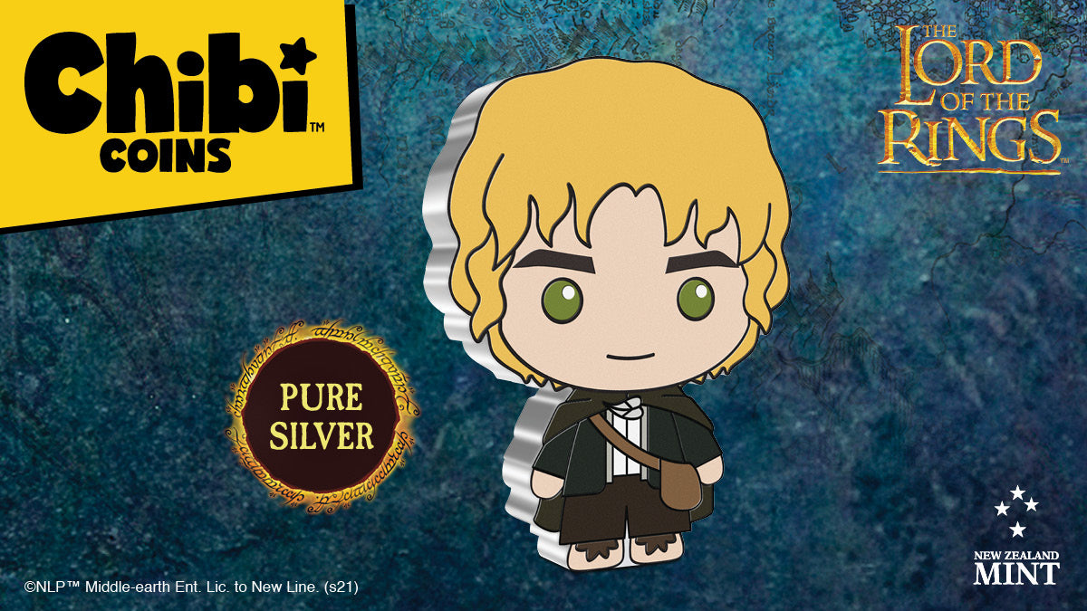 Chibi™ Coin Collection THE LORD OF THE RINGS™ Series – Samwise Gamgee 1oz Silver Coin from NZ Mint