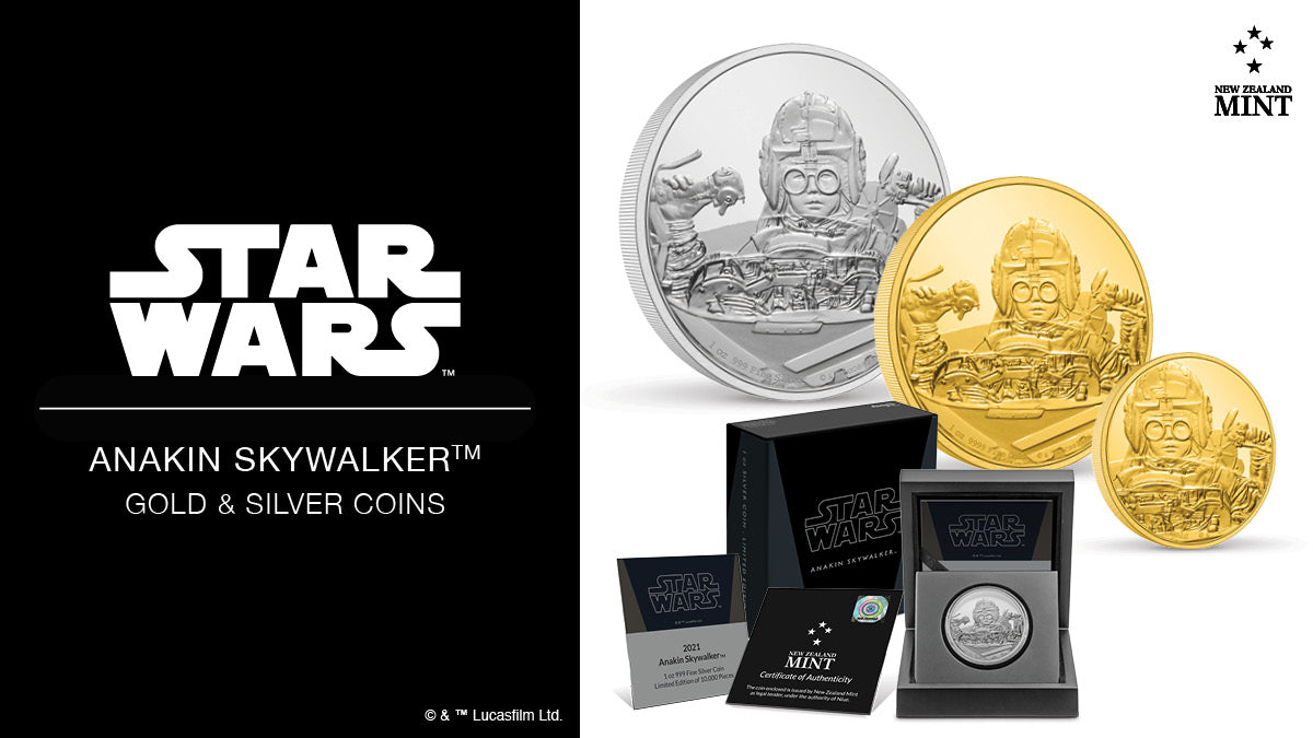 Star Wars Classic: Anakin Skywalker™ Gold & Silver Collectible Coins