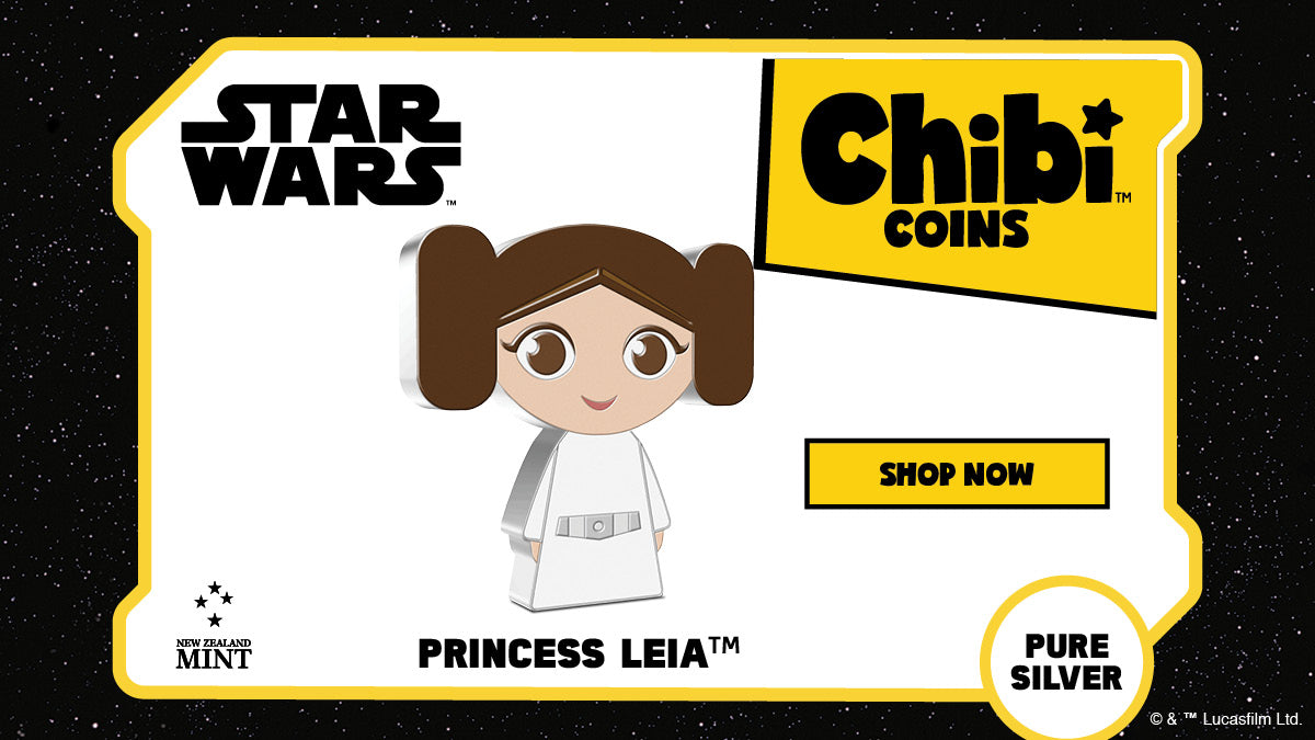 Chibi™ Coin Collection Star Wars™ Series – Princess Leia™ 1oz Silver Coin Available Now!