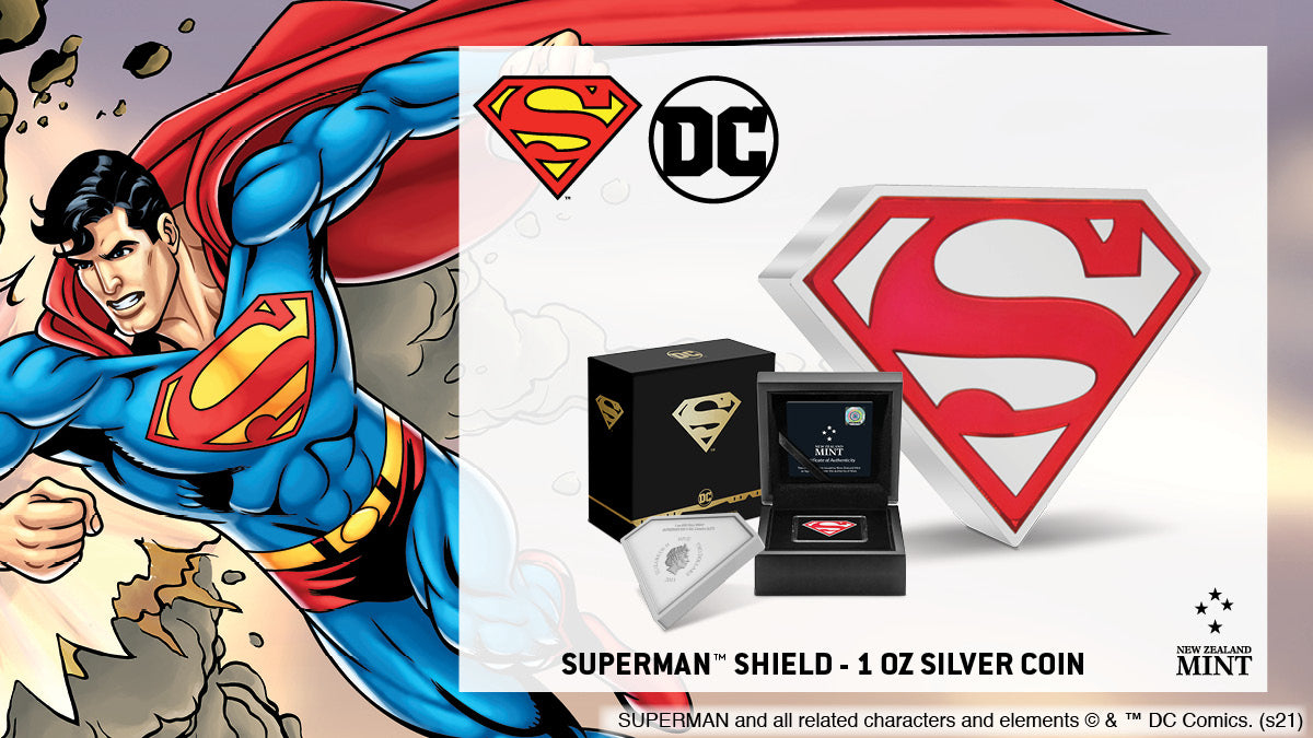 SUPERMAN™ Shield 1oz Silver Coin Available Now!
