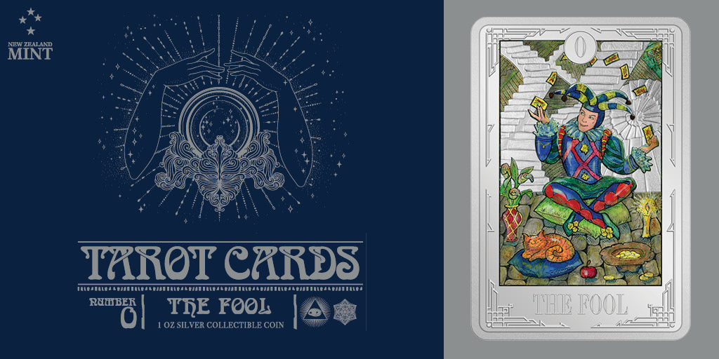 Tarot Cards – The Fool 1oz Silver Coin