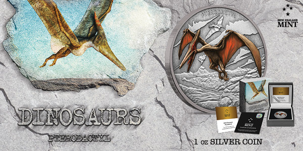 Dinosaurs – Pterodactyl 1oz Silver Coin available for a limited time!
