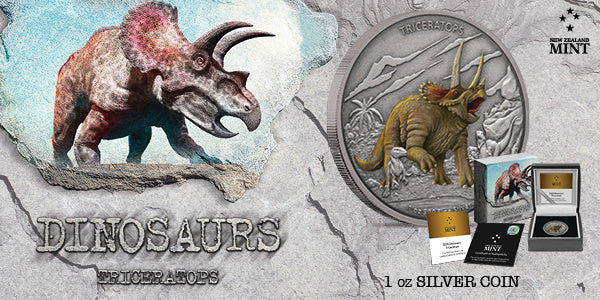 Dinosaurs Collection - 1oz Silver Triceratops Coin | New Zealand Mint