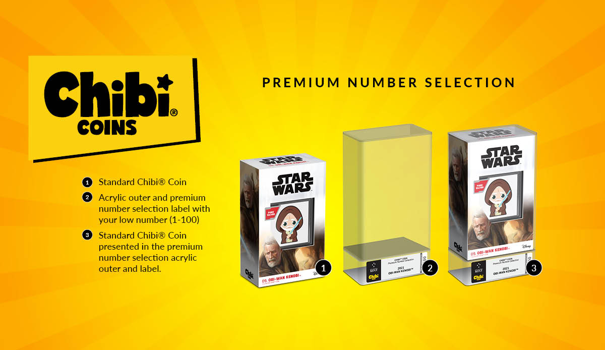 You may have noticed we recently launched a new product! PREMIUM NUMBER SELECTION Chibi® Coins with a guaranteed premium number! Numbers 1-100 are now set aside and picked at random for those collectors who value low numbers. Learn more...