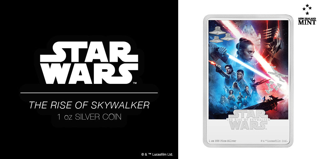Star Wars: The Rise of Skywalker 1oz Silver Coin Star Wars: The Rise of Skywalker, released in December 2019, is the final instalment of the sequel trilogy and the ninth instalment of the main Star WarsTM film franchise.