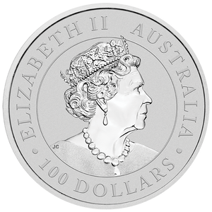 1oz Platinum Bullion Coin Obverse featuring the Queen's effigy.