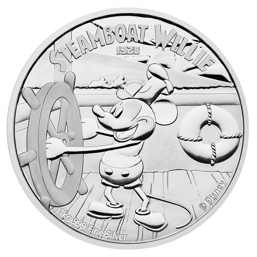 Disney - Steamboat Willie 1kg Silver Coin