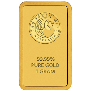 1g Gold Minted Bar Perth Mint