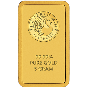 5g Gold Minted Bar Perth Mint