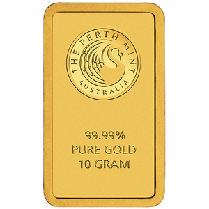 10g Gold Minted Bar Perth Mint