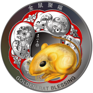 1000g Gold Rat Blessing - Year of the Rat Front