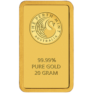 20g Gold Minted Bar Perth Mint