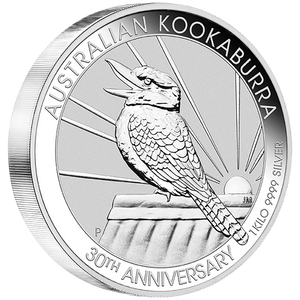 1kg Silver Bullion Coin featuring singing Kookaburra - Perth Mint