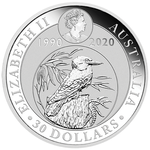 1kg Silver Bullion Coin featuring Kookaburra - Perth Mint
