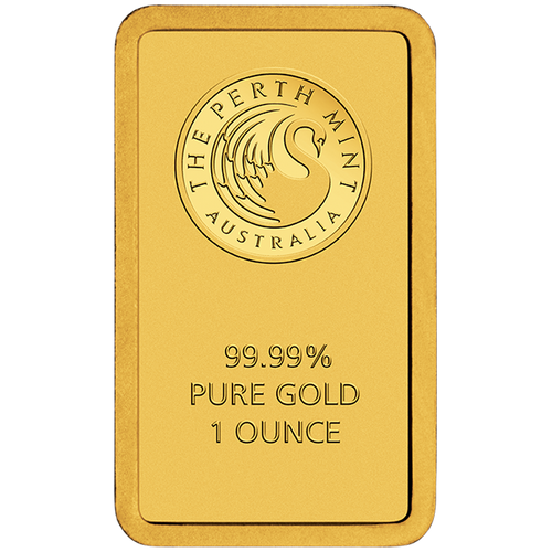 1oz Gold Minted Bar Perth Mint