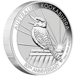 10oz Silver Bullion Coin featuring singing Kookaburra Perth Mint