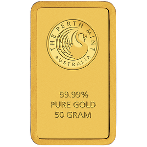 50g Gold Minted Bar Perth Mint