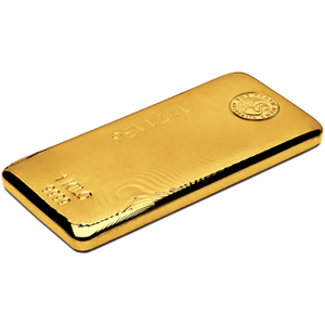 1kg Gold Bar Perth Mint side view
