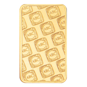 1oz Gold Minted Bar ABC reverse
