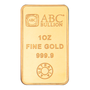 1oz Gold Minted Bar ABC
