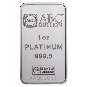 1oz Platinum Minted Bar ABC | NZ Mint