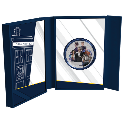 Doctor Who 2017 1oz Silver Coin Display