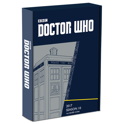 Doctor Who 2017 1oz Silver Coin Box