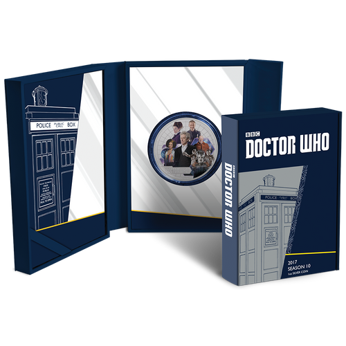 Doctor Who 2017 1oz Silver Coin Packaging