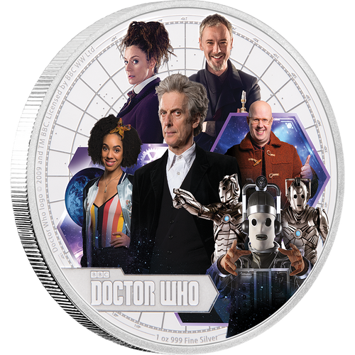 Doctor Who 2017 1oz Silver Coin