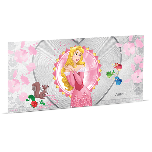 Disney Princess - Aurora 5g Silver Coin Note