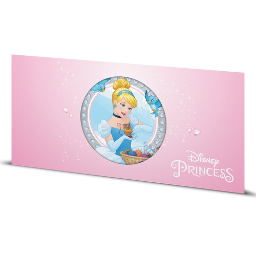 Disney Princess - Cinderella 5g Silver Coin Note Sleeve