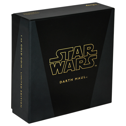 Star Wars Classic: Darth Maul™ 1oz Gold Coin Box