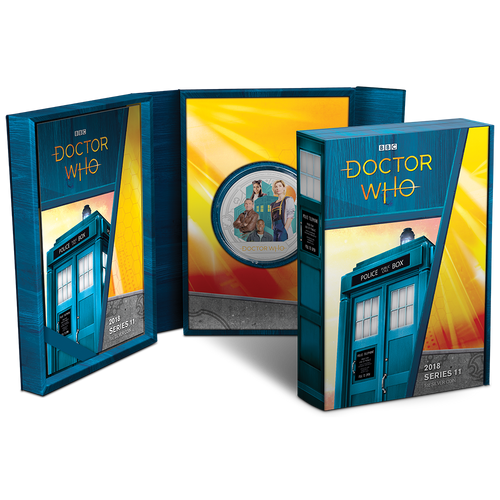 Doctor Who 2018 1oz Silver Coin Packaging