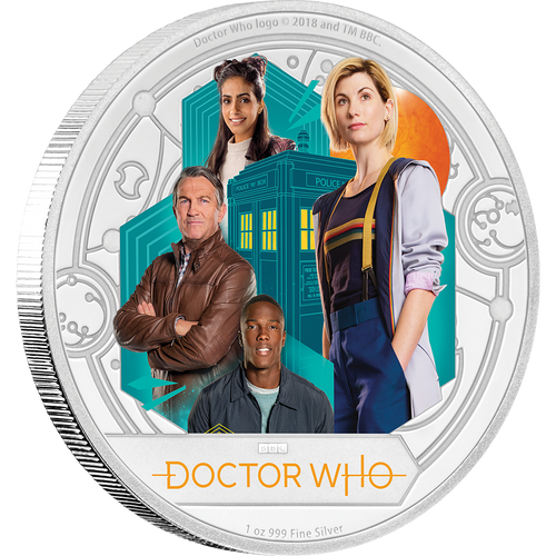 Doctor Who 2018 1oz Silver Coin
