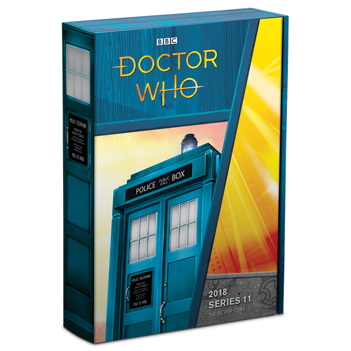 Doctor Who 2018 1oz Silver Coin Box