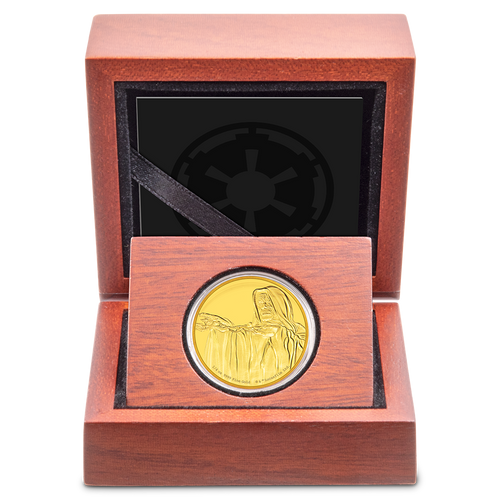 Star Wars Classic: Emperor Palpatine™ 1/4oz Gold Coin Display