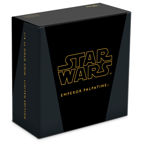 Star Wars Classic: Emperor Palpatine™ 1/4oz Gold Coin Box
