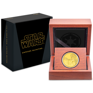 Star Wars Classic: Emperor Palpatine™ 1/4oz Gold Coin Packaging