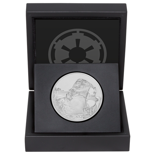 Star Wars Classic: Jabba the Hutt™ 1oz Silver Coin Display