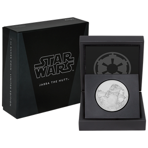 Star Wars Classic: Jabba the Hutt™ 1oz Silver Coin Packaging