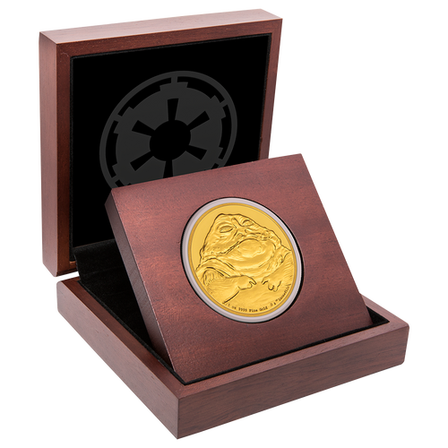 Star Wars Classic: Jabba the Hutt™ 1/4oz Gold Coin Display