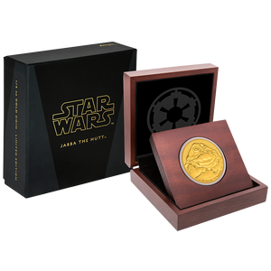 Star Wars Classic: Jabba the Hutt™ 1/4oz Gold Coin Packaging