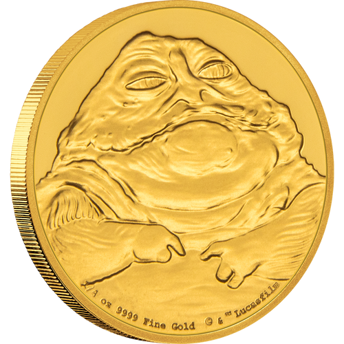 Star Wars Classic: Jabba the Hutt™ 1/4oz Gold Coin